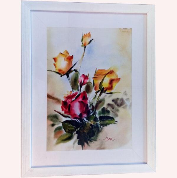 تابلو نقاشی غنچه های گل رز