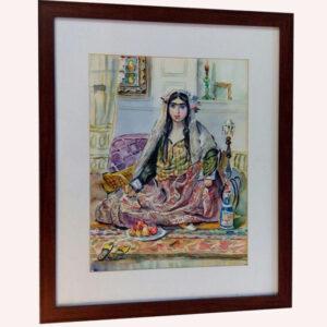 تابلو نقاشی زن قاجار