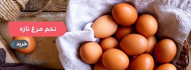 خرید انلاین تخم مرغ در زنجان