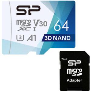 کارت حافظه سیلیکون پاور مدل Superior Pro ظرفیت 64 گیگابایت به همراه آداپتور SD