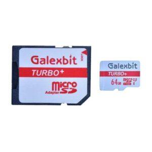 کارت حافظه گلکسبیت مدل Turbo+ ظرفیت 64 گیگابایت به همراه آداپتور SD