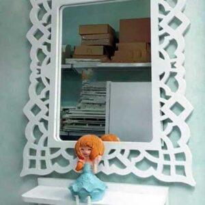 شلف آینه مستعطیل
