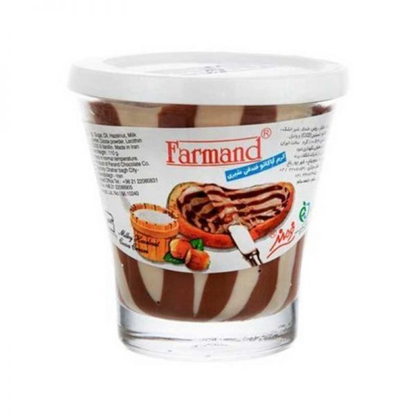 شکلات صبحانه کرم کاکائو شیری فندقی 110 گرمی فرمند