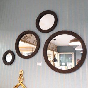 آینه دکوراتیو مدل 4Cii قهوه ای