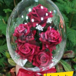 تنگ شیشه ای گل رز مصنوعی
