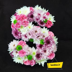 باکس گل طبیعی حروف