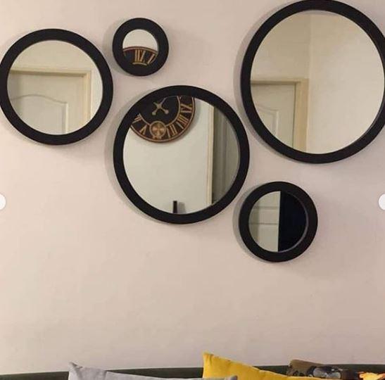 آینه دکوراتیو مدل 5Cii قهوه ای