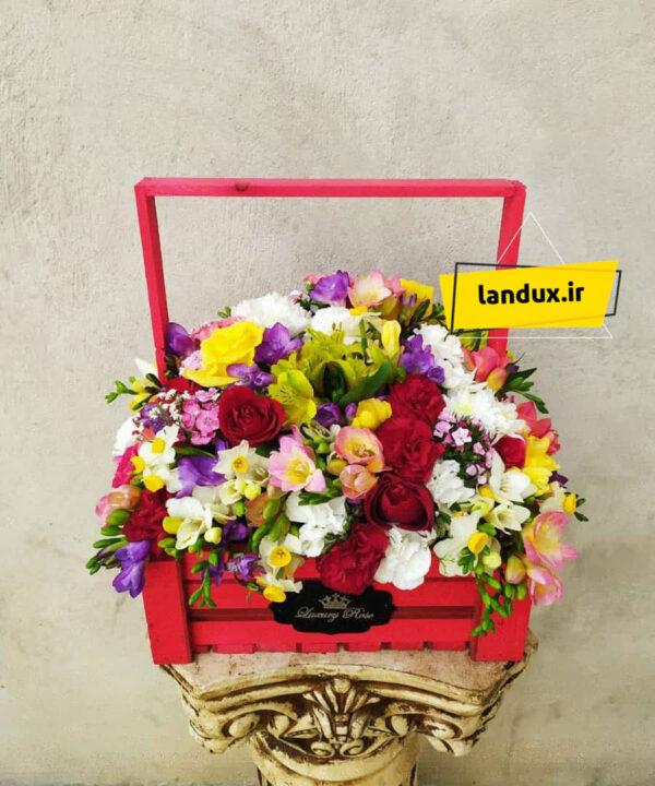 سبد گل طبیعی بهشت