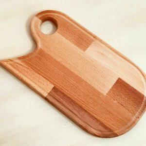 تخته گوشت کنار منحنی چوبی