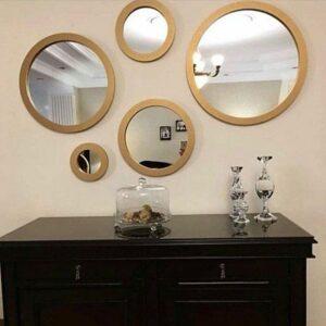 آینه دکوراتیو مدل 5Cii طلایی