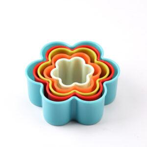 کاتر شیرینی مدل گل شش پر 5عددی