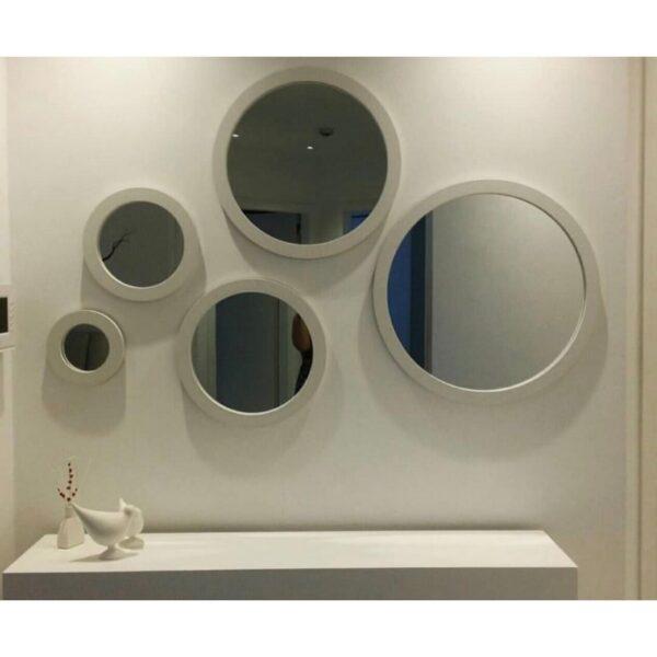 آینه دکوراتیو مدل 5Cii نقره ای
