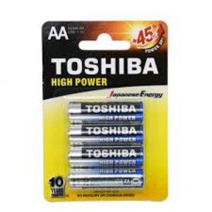 باتری قلمی آلکالاین مدل High Power بسته 4 عددی توشیبا