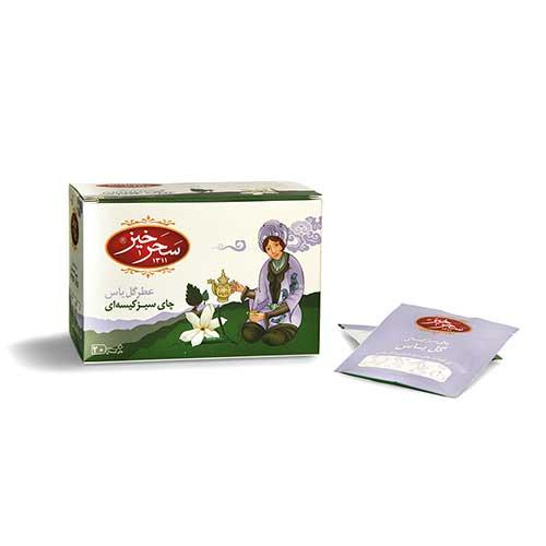 چای سبز کیسه ای عطر گل یاس