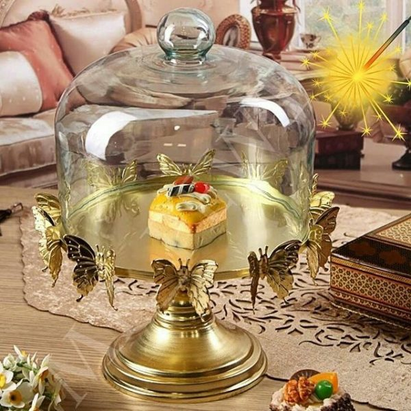 ظرف کاپ کیک پروانه طلایی