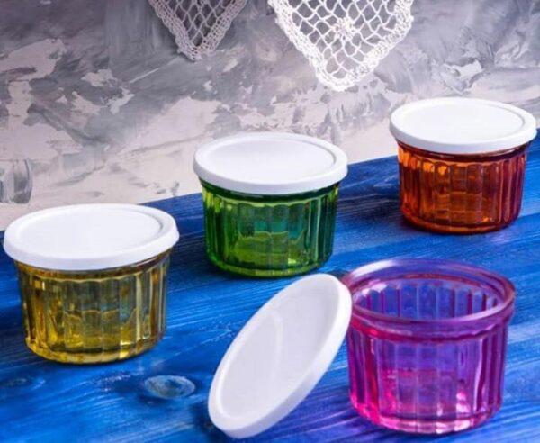 بانکه شیشه ای رنگی