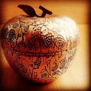 قندان مسی طرح سیب
