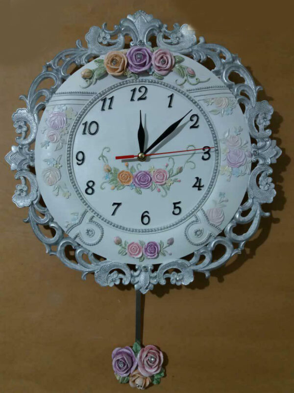 ساعت دیواری رزین کد 004