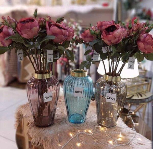 گلدان شیشه ای دکوری