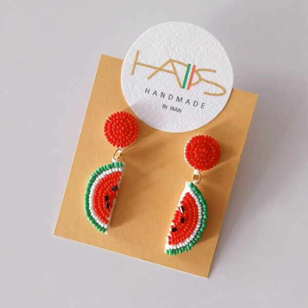 گوشواره منجوق بافی هندوانه