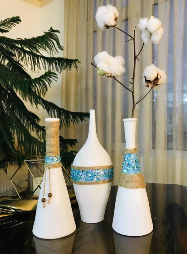 گلدان سفالی دکوری کد 0018