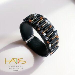 دستبند منجوق بافی کد 0014