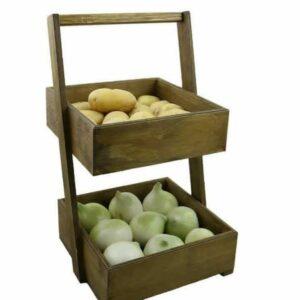 جا پیاز و سیب زمینی چوبی