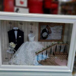 تابلوی مینیاتوری عروس و داماد