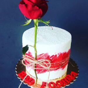 کیک تولد رز- لندوکس
