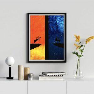 تابلو نقاشی گوزن کد 002