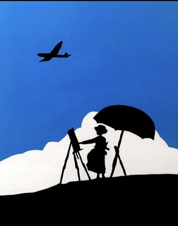 تابلو نقاشی دختر نقاش کد 001