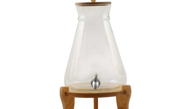 کلمن شیشه ای مدل کوزه(4 لیتر)
