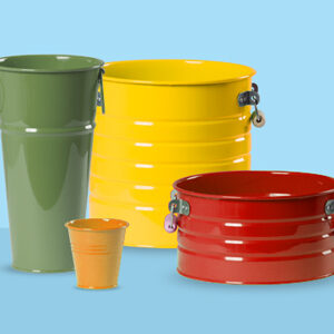 سطل و گلدان های فلزی درجه یک