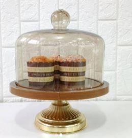 کیک خوری چوبی با پایه فلزی