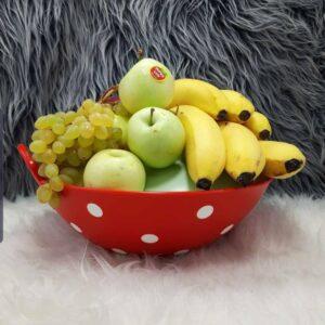 کاسه میوه ی خالدار