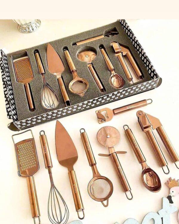 ست ابزار آشپزخانه رز گلد ترک