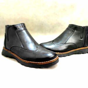 کفش مردانه ساقدار چرم نیم بوت