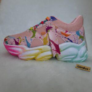 کفش اسپرت دخترانه هفت رنگ کد0037