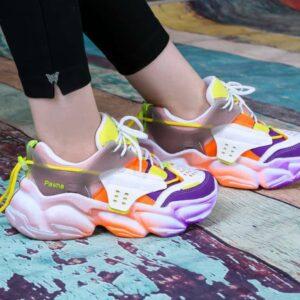 کفش اسپرت دخترانه فشن رنگ کد0047