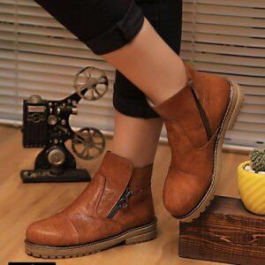 کفش نیم پوت زیپی زنانه 0053