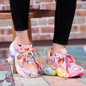 کفش اسپرت دخترانه هفت رنگ کد0046